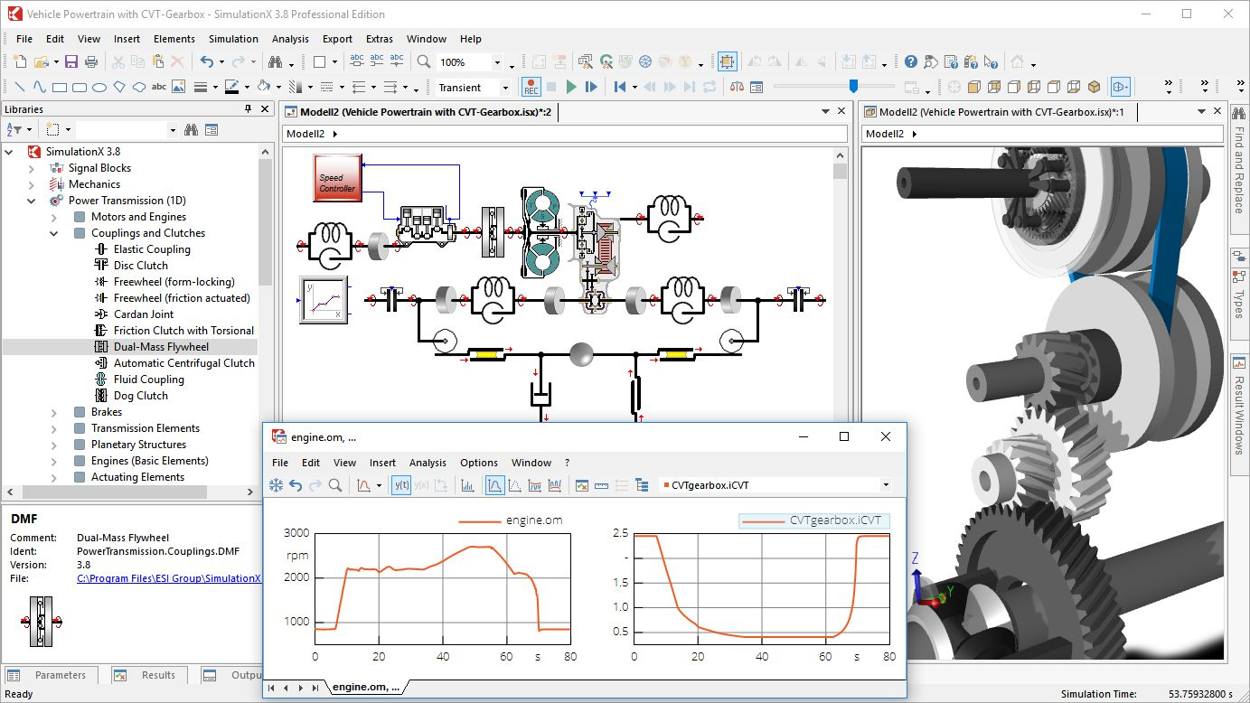 Applying CAE Tools: Simulation Models of Complete Drive Systems